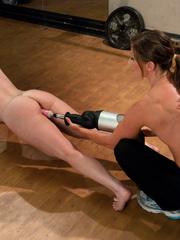Lesbians using hammer fucking machines. - Unique Bondage - Pic 9