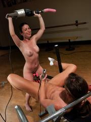 Lesbians using hammer fucking machines. - Unique Bondage - Pic 11