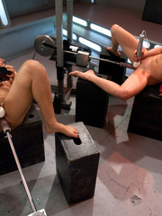 Hot babes licking and fucking their pussies - Unique Bondage - Pic 2