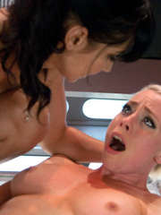 Hot babes licking and fucking their pussies - Unique Bondage - Pic 10