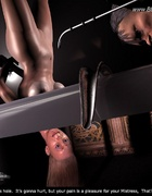 Slave comics. It's gonna hurt, but your pain is a pleasure for your Master!