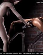 Bdsm art toons. Mistress gave slave metal toys…
