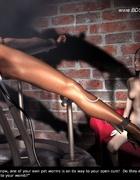Bdsm art toons. Mistress gave slave metal toys front and back!