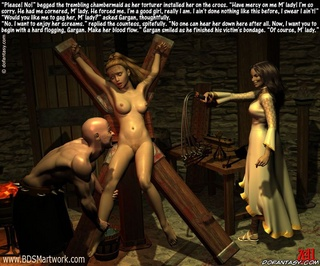 Torture drawings. Countess bring her servant girl to the hangman and ordered to punish her!