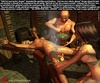 Bondage comics. Torturers put hot iron in slave's…
