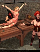 Submission comics. Slave girl was laid on the…