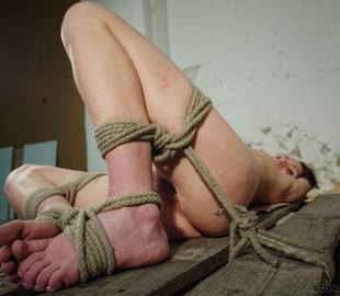 Tied up brunette chick gets her petite body - Unique Bondage - Pic 4