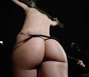 Petite body gets tied up and butt whipped by - Unique Bondage - Pic 3