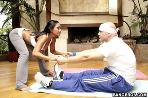 Priya Rai in tights... giving yoga lesso - XXX Dessert - Picture 3
