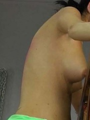 A woman is tied to the whipping post so she - Unique Bondage - Pic 12