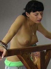 A woman is tied to the whipping post so she - Unique Bondage - Pic 13