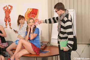 Anatomy teacher accepts brutal cfnm punishment 4