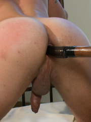 Blindfolded and bondaged gay hunk gets his - Unique Bondage - Pic 9