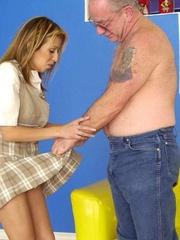 Cute topless girl enjoying a hard spanking - Unique Bondage - Pic 2