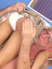 Cute topless girl enjoying a hard spanking - Unique Bondage - Pic 11
