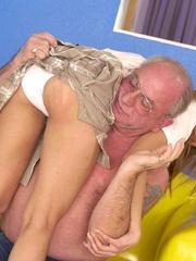Cute topless girl enjoying a hard spanking - Unique Bondage - Pic 12