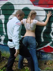 Grafitti girl caught by the police gets a - Unique Bondage - Pic 4