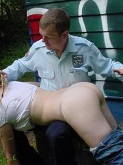 Grafitti girl caught by the police gets a - Unique Bondage - Pic 8