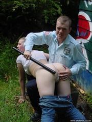 Grafitti girl caught by the police gets a - Unique Bondage - Pic 9