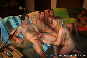 Experienced swingers involve a young chick into their dirty game - XXXonXXX - Pic 1