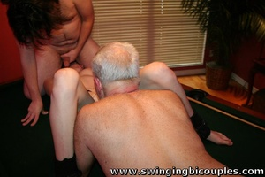 Bisexual dudes love to fuck young sweet chicks and each other - XXXonXXX - Pic 5