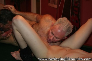 Bisexual dudes love to fuck young sweet chicks and each other - XXXonXXX - Pic 15