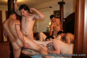 Guys tires to fuck only their own girlfriends, they changed them during hot swinger party - XXXonXXX - Pic 1