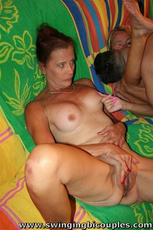 Two mature bisexual bitches share hot hung guy - XXXonXXX - Pic 3