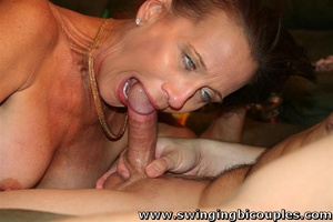 Two mature bisexual bitches share hot hung guy - XXXonXXX - Pic 9