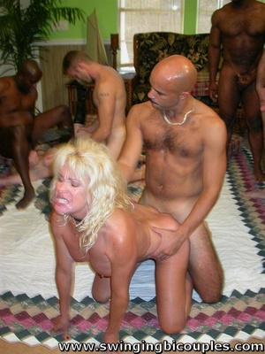 This multiracial swinger orgy is high when asses and cunts stuffed with cock and mouths full of cum - XXXonXXX - Pic 15