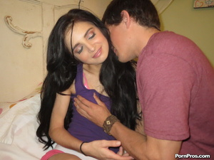 Bondaged dark haired teen cutie sufferin - XXX Dessert - Picture 2