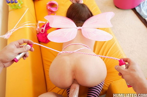 Tied up and gagballed teen brunette gagg - XXX Dessert - Picture 10