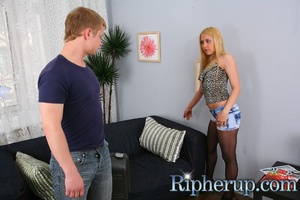 Dirty dude stretches anal of hot blonde  - XXX Dessert - Picture 1