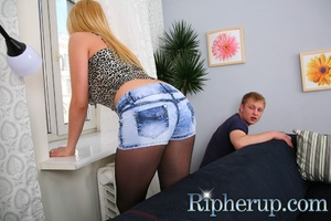 Dirty dude stretches anal of hot blonde  - XXX Dessert - Picture 3