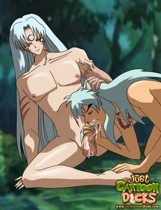Gay hentai lovers with long hair are making - Cartoon Sex - Picture 1