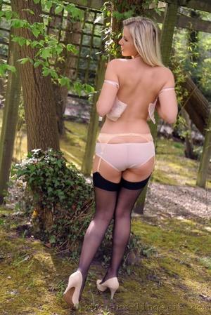 Hosiery porn. Gorgeous blonde Jana D pos - XXX Dessert - Picture 6