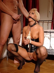 Her nipples are hurt, and that's why - Unique Bondage - Pic 6