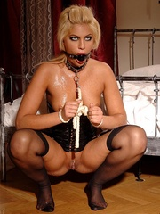 Her nipples are hurt, and that's why - Unique Bondage - Pic 10