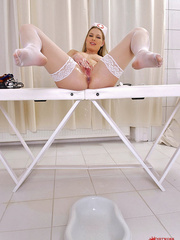 She proved to be a good goldenshower nurse - Unique Bondage - Pic 15