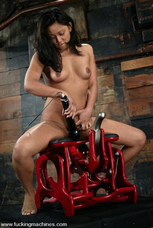 Fucking machine sex. Peasant girl plays  - XXX Dessert - Picture 3