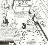 Cartoon porno. Fantasy story of a young lesbian sex-slave.