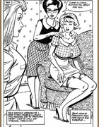 Cartoon porn comics. Housewives.