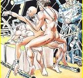 Cartoon porno. Cruel sex.