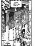 Cartoon sex comics. The nasty nun.