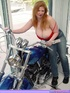 Hot redheads. Biker Babe Toni KatVixen Shows Off Her Chopper.