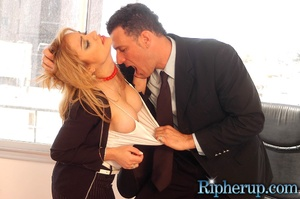 Rough sex. Blonde gets her pants ripped  - XXX Dessert - Picture 5