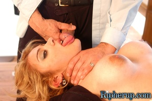Rough sex. Blonde gets her pants ripped  - XXX Dessert - Picture 8