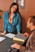 Xxx office girls. Busty office girl Daphne Rosen gets busy with a coworker.
