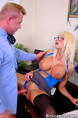 Big tits. As a busty employer Dona Doll  - XXX Dessert - Picture 11