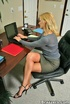 Sexy secretary. Hot and busty coworkers getting a…